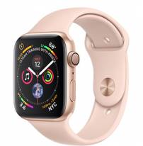 Apple Watch Series 4 44mm Gold Aluminum Case with Pink Sand Sport Band (GPS)
