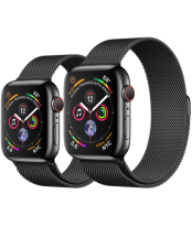 Apple Watch Series 4 40mm Space Black Stainless Steel with Space Black Milanese Loop (GPS+Cellular)