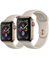Apple Watch Series 4 40mm Gold Stainless Steel Case with Stone Sport Band (GPS+Cellular)