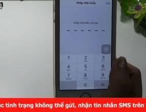 Khắc phục tình trạng không thể gửi, nhận tin nhắn SMS trên i