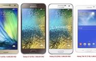 Samsung Galaxy A7, E7 ...