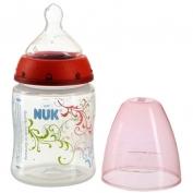 Bình sữa Nuk cổ rộng bằng nhựa PP 150ml núm silicone siêu mềm