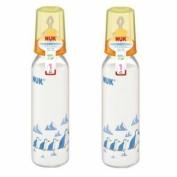 Bình sữa bằng nhựa PP cổ nhỏ 240ml silicone số 1 Nuk - 741419