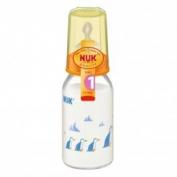 Bình sữa bằng nhựa PP cổ nhỏ 110ml silicone số 1 Nuk - 743404