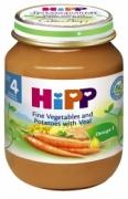 Dinh dưỡng đóng lọ Thịt bê, khoai tây, rau tổng hợp Hipp (125g) - 6152