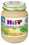 Dinh dưỡng đóng lọ Ngô bao tử, khoai tây, gà tây Hipp (125g) - 6203