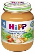 Dinh dưỡng đóng lọ Thịt gà, cơm nhuyễn, rau tổng hợp Hipp (125g) - 6253