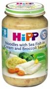Dinh dưỡng đóng lọ Mì tagliatelle, cá hồi, sốt kem, lơ xanh Hipp (220g) - 6550