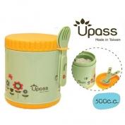 Hộp giỮ ấm thức ăn không BPA 500 cc có thìa và dĩa (nĩa) - UP9553Y