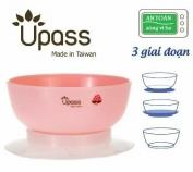 Bát ăn dặm UPASS 3 giai đoạn không BPA - UP5023YH Hồng