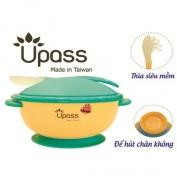 Bát ăn dặm UPASS không BPA có nắp và thìa (Vàng) - UP5025YV