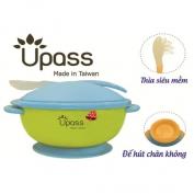 Bát ăn dặm UPASS không BPA có nắp và thìa (Màu Lá) - UP5025YL
