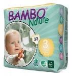 Tã dán - bỉm dán Bambo Nature Đan Mạch Midi 3 - M33: cho bé từ 5-9kg