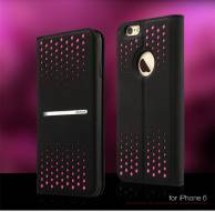 Ốplưng da Iphone6 plus Polka Dot leather case Groove-series