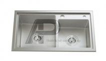 Chậu RB Đúc Inox 304 - 208R KT:780x430x230