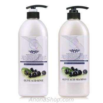Gói Combo Dầu Gội & Dầu xả Mượt tóc Olive ACID 600ml