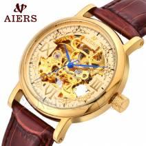Đồng hồ nam dây da máy cơ cao cấp chính hãng AIERS B128