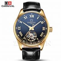 Đồng hồ đeo tay nam chính hãng CARNIVAL 660G-01 lộ máy cơ Nhật