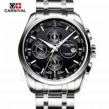 Đồng hồ đeo tay nam chính hãng CARNIVAL 8659G-01 lộ máy cơ cao cấp