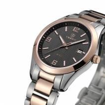Đồng hồ nam chính hãng VINOCE V8380-02 máy Quartz mặt tròn cổ điển