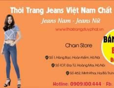 Bán buôn quần Jean Nam Nữ hàng Việt Nam chất lượng cao
