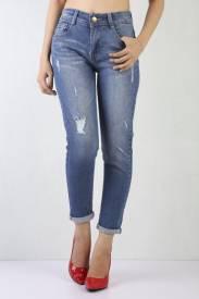 Quần Jeans Nữ BL A21 - Đậm trung