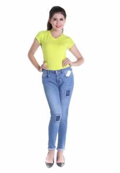 Quần jeans nữ skinny 11.2 xanh sáng