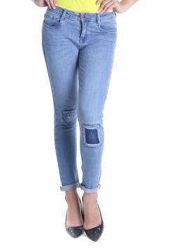 Quần jeans nữ boyfriend 51.2 xanh sáng