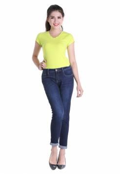 Quần jeans nữ boyfriend 50.1 xanh đậm