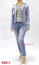 Quần jeans nữ boyfriend 050-1 xanh sáng