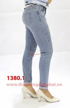 Quần Jean nữ boyfriend 1380.1 xanh sáng