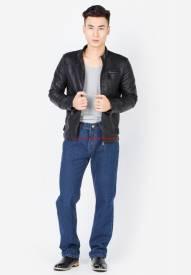 Quần jeans nam Duy Phát màu xanh jean đậm