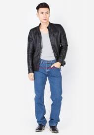Quần jeans nam Duy Phát màu xanh jean