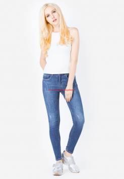 Quần jeans nữ 906 màu xanh jean Duy Phát