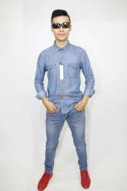Áo sơ mi jeans Nam Duy Phát 44