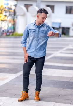 Men's shirts Denim 201