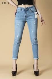 Quần jeans nữ boyfriend mài rách 434.3
