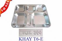 Khay inox 6 ngăn E/ Khay cơm phần 6 ngăn