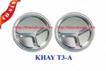 Khay inox 3 ngăn A/ Khay cơm phần 3 ngăn
