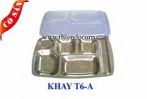 Khay inox 6 ngăn A/ Khay phần 6 ngăn
