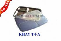 Khay inox 4 ngăn/ Khay cơm phần 4 ngăn