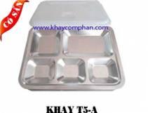 Khay inox 5 ngăn A/ Khay cơm phần 5 ngăn
