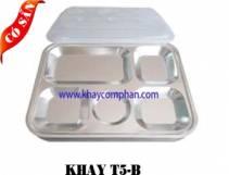 Khay inox 5 ngăn B/ Khay Cơm phần 5 ngăn