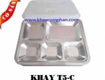 Khay inox 5 ngăn C/Khay cơm phần 5 ngăn