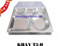 Khay inox 5 ngăn D/ Khay cơm phần 5 ngăn
