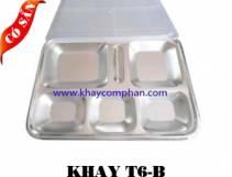 Khay inox 6 ngăn B/ Khay cơm phần 6 ngăn