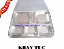 Khay inox 6 ngăn C/ Khay cơm phần 6 ngăn