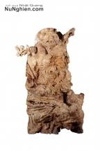 Ông Đạt Ma Sư Tổ gỗ lũa Nu nghiến