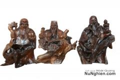 Ba ông Tam Đa (Phúc, Lộc, Thọ) gỗ lũa Gù hương