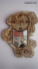Đồng hồ gỗ Nu nghiến